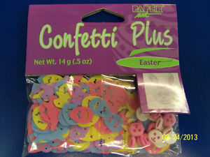 Easter Bunny & Eggs Pastel Spring Holiday Party Table Decoration Confetti Plus