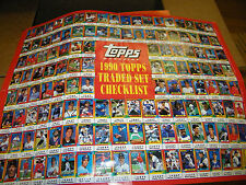 Topps magazine Baseball 1990 and 1991 TRADED SET checklist posters