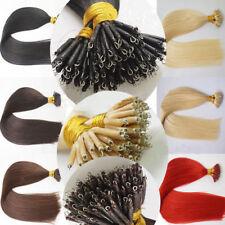 8A 50S Nanoring-Strähnen Hair Extensions Remy Echthaar Strähnen Haarverlängerung