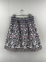 Tokito Women's Casual Floral Knee Length Skirt Size 10 Blue White