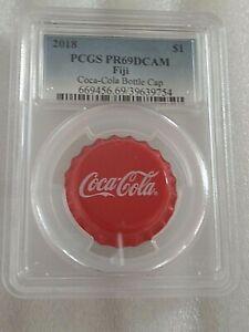 2018 6 gram Fiji Coca-Cola U.S. Bottle Cap Silver Coin PCGS PR69 DEEP CAMEO!