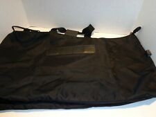 LL Bean Black Heavy Nylon and Leather Carry Bag ~ Large