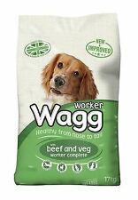 Wagg Complete Worker Dry Mix Dog Food Beef and Vegetables B Vitamins 17kg