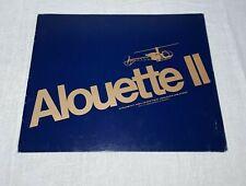 1971 ALOUETTE II VOUGHT HELICOPTER BROCHURE