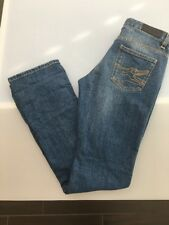 Lacoste Womens Jeans Logo Straight Leg Denim Alligator 26