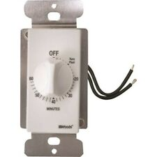 Woods 59717 60-Minute In-Wall Spring Wound Countdown Timer, Mechanical Switch, W