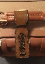 Phi Beta Sigma Inscribed Handcrafted Leather Luggage Tag