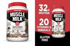 Muscle Milk Genuine Protein Powder, Natural Real Chocolate, 32g 2.47 Pound