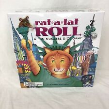 Rat A Tat Roll - A Fun Numbers Dice Memory Board Game Cat New Sealed
