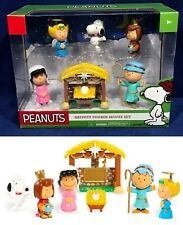 New - PEANUTS NATIVITY Set - CHRISTMAS Figures JUST PLAY Charlie Brown SNOOPY