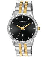 Citizen Men's Quartz Stainless Steel Watch with Crystal Accents BI5034-51E