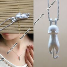 Silver 925 Kitten Necklace Christmas Presents for Her Girls BLACK FRIDAY DEAL X2