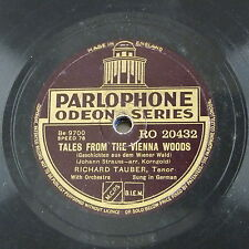 78 rpm RICHARD TAUBER Tales from Vienna Woods/Rose del sud