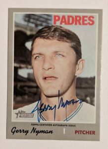 2019 Topps Heritage Gerry Nyman real one auto Padres ROA-JN