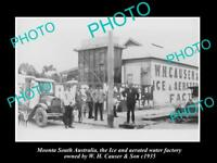 OLD LARGE HISTORIC PHOTO OF MOONTA SA, VIEW OF THE CAUSER CORDIAL FACTORY 1935 2