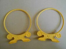Vintage My Little Pony G1 Set Of 2 Yellow Jumping Hoops From Dream Castle