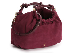 Thacker Hepburn Suede Small Satchel Bag B1650