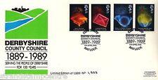 1989 anniversari-Derbyshire County Council UFFICIALE-CAT £ 35!!