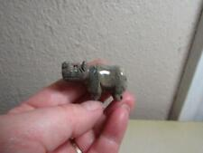 Hippopotamus, Handcarved Stone from the Andes of Peru Miniature Multi Hued Hippo
