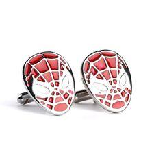 New Marvel Comics Spiderman Symbol Retro Logo Symbol Cufflinks Suit Gift Bag
