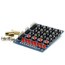 4x4 Matrix Keypad Keyboard Tastatur 16 Tasten 8 LEDs für z.B Arduino