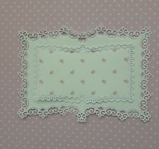 Die Cut Tattered Lace Laced Edge Book With Insert  Card Toppers Card Making