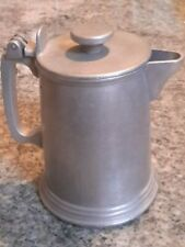 Armetale Metalware Pewter Beer Tankard Stein Pitcher Attached Flat Lid