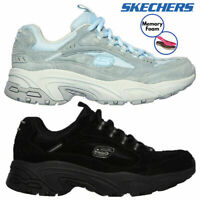 Skechers Womens Stamina Up Lift Trail Leather Memory Foam Cross Road Trainers