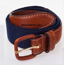 American Apparel Children's Navy Blue Brown Leather Belt Buckle Kids Large 8-10