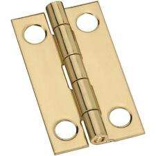 "25 Pk Solid Brass 7/8"" Wide x 1 1/2"" High Narrow Jewelry Box Hinge 2/Pk N211219"