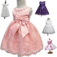 0-24M Infant Girl Baby Flower Party Occasion Wedding Communion Christening Dress