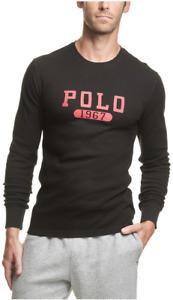 POLO RALPH LAUREN Men's Big & Tall POLO 1967 Waffle-Knit Thermal Pajama Shirt