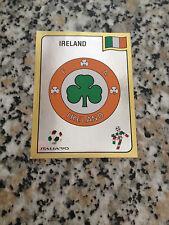 SCUDETTO IRLANDA N. 409 album CALCIATORI ITALIA 90 PANINI NUOVA CON VELINA