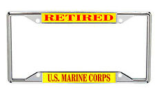 US Marine Corps Metal License Frame  Retired Every State