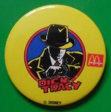 DICK TRACY MCDONALD'S DISNEY VINTAGE TIN PIN BADGE VGC 1980S? FAST FOOD