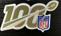 "2019 100th ANNIVERSARY SEASON SALUTE TO SERVICE NFL SHIELD PATCH 5"" 100 YEARS"