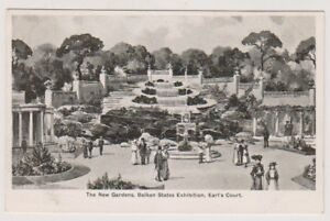 Balkan States Exhibition 1907, Earl's Court postcard - The New Gardens (A195)