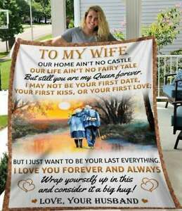 To My Wife Our Home Ain't No Castle I Love You Forever Love Your Husband Blanket