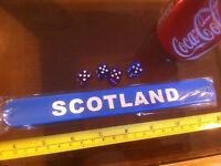Scotland Blue Snap Bracelet Wrist Band High Quality Fold Plastic Wristband