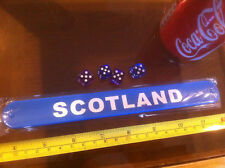 Scotland Blue Snap Bracelet Wrist Band High Quality Fold Plastic Wristband