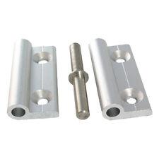 Aluminium Scharnier eloxiert aushängbar mit Edelstahlachse