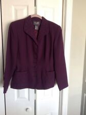 CLIO 2 Purple Beaded detail , 1940s style Jacket , size 8