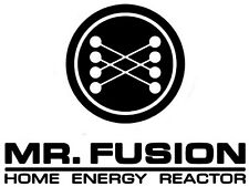 BACK TO THE FUTURE Mr Fusion Energy Reactor Vinyl Car Decal Sticker 19cm x 14cm