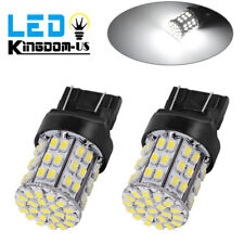2x White 7443 7440 6000K  64smd Turn Signal Stop Brake LED Light Bulbs T20