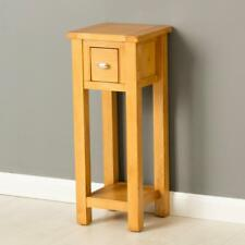 Poldark Oak Telephone Table / Light Oak Hall Small Hall Table / Tall Lamp Table
