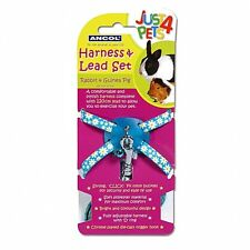 Ancol Rabbit Small Animal Harness & Lead Set Blue Dots Guinea Pig Etc