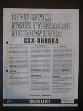 SUZUKI GSX-R600K4 Set Up Manual GSX R600 K4 Set-Up 99505-01174-011 Motorcycle