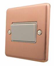 G&H CBC69W Standard Plate Bright Copper 1G Triple Pole 10A Fan Isolator Switch