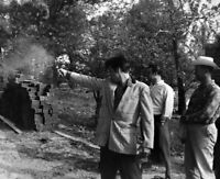 8x10 Print Elvis Presley Shooting Gun Candid #6629