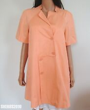 $725 NWT Authentic CACHAREL Warm Orange Cotton Blend Belted Jacket IT-42 US-8